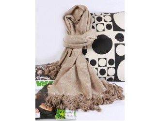 Light Brown Hand spun Cashmere Scarf