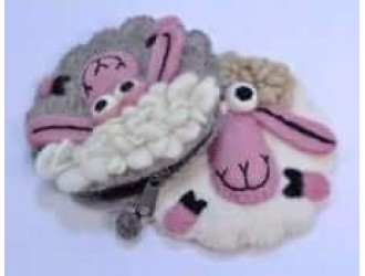 Felt Sheep coin Purses