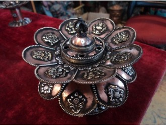 Double Lotus Incense Burner