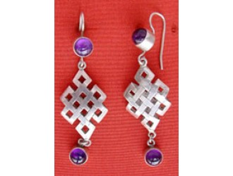 Endless Knot Silver Earring