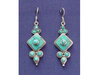 Tibetan Dingle Earring