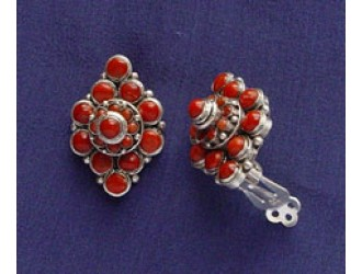 Coral Stud Ear Pin